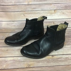 Frye Black Leather Ankle Boot